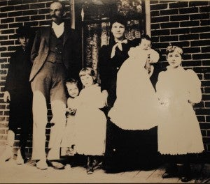 John Moses Browning with his family in Ogden, Utah.