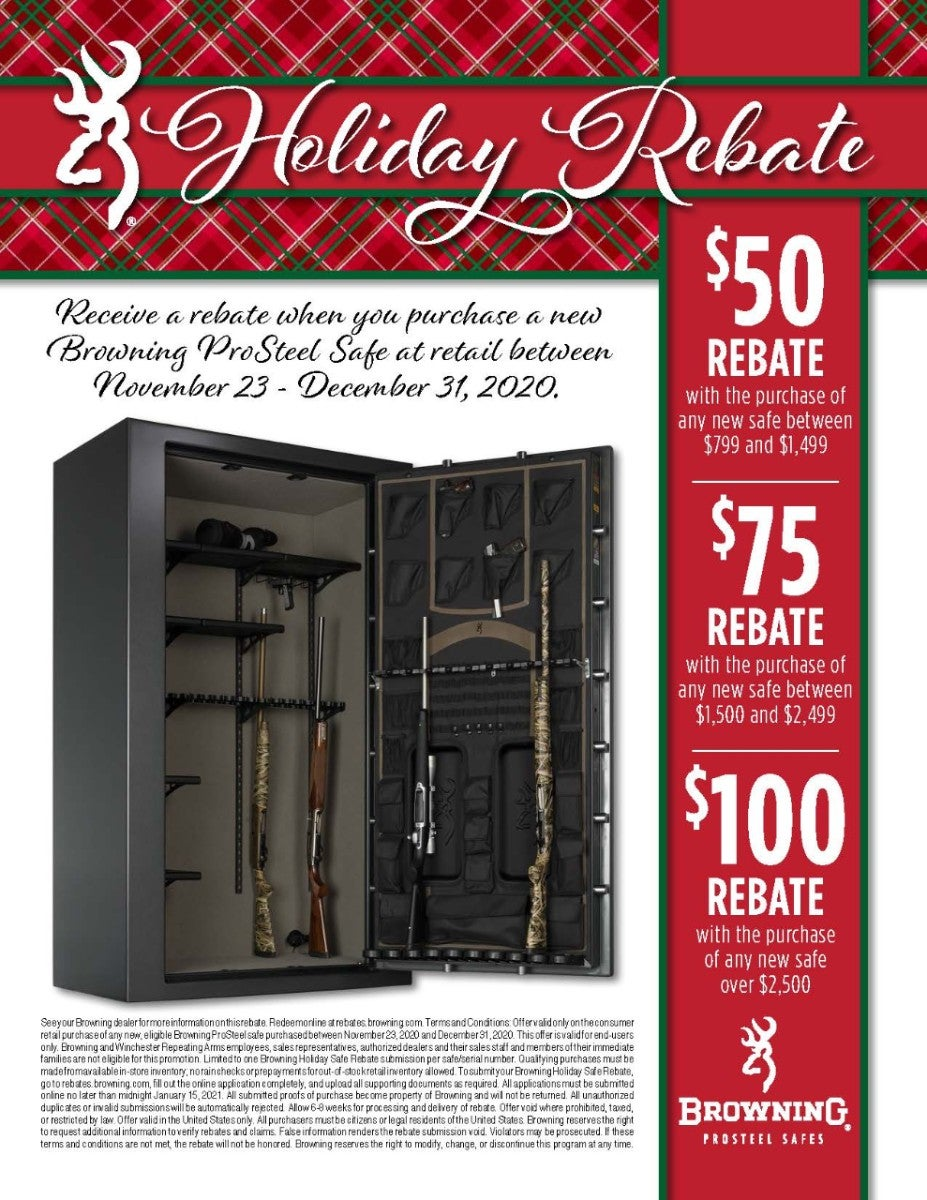 Browning ProSteel Holiday Rebate Flyer 2020