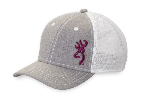 Women s classic six panel baseball style cap with mesh back and hook and  loop closure. 980f5435fa7