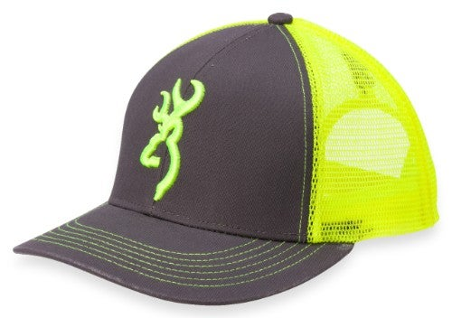 0929a909f04 Flashback Cap - Charcoal Neon Green
