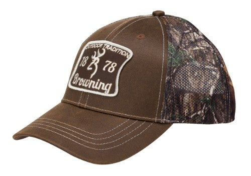 4f3af498 Snapback, meshback camo cap with full rack patch and rear raised  embroidered Buckmark