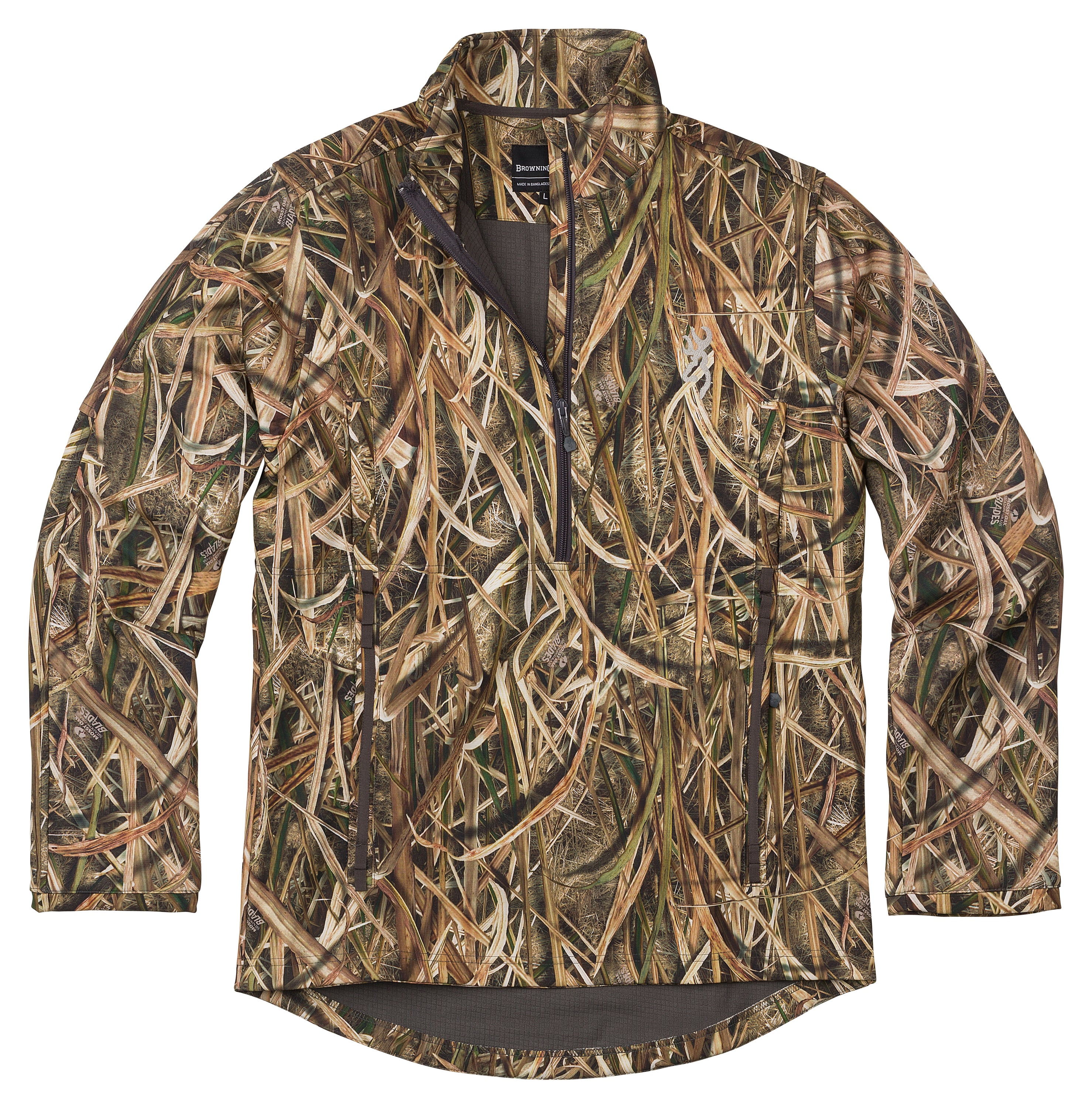 Max 5 Camo Size L 1//4 Zip Neck Browning Wicked Wing Smoothbore Jacket