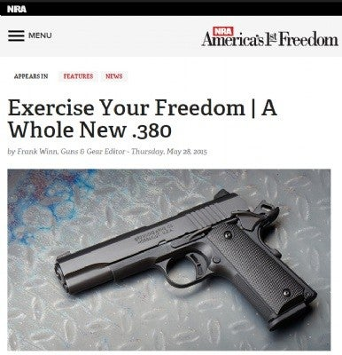 NRA Article on the 1911-380