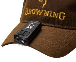 Trailmate USB Cap Light shown on Browning cap