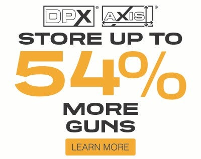 Store up to 54% more guns