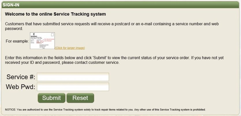 Online Service Tracking