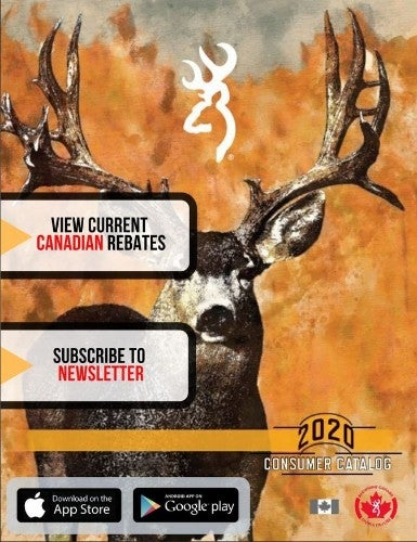 Image of 2020 Browning Canada Catalog with extra graphics