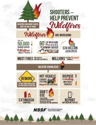 NSSF Firearms fire safety flyer image with download link.